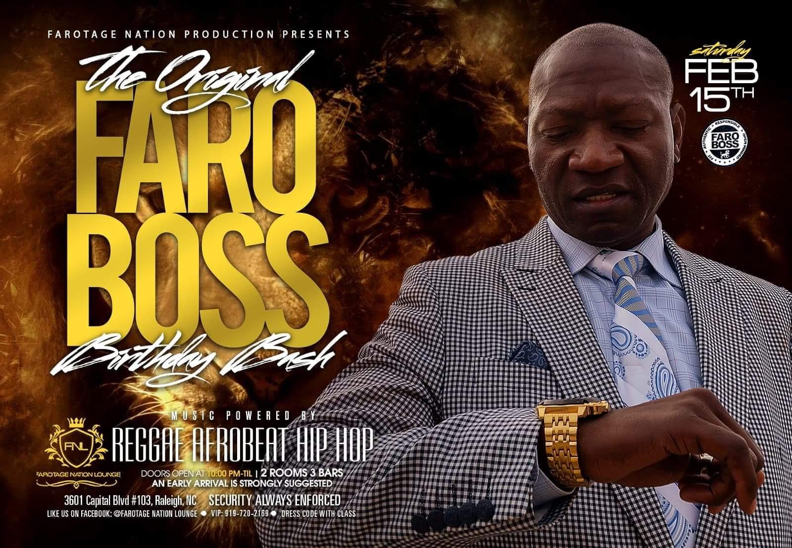 Andre Faro Boss Birthday Bash