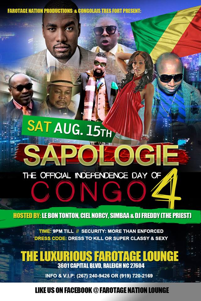 Sapologie Farotage Nation Lounge - Congo independence day